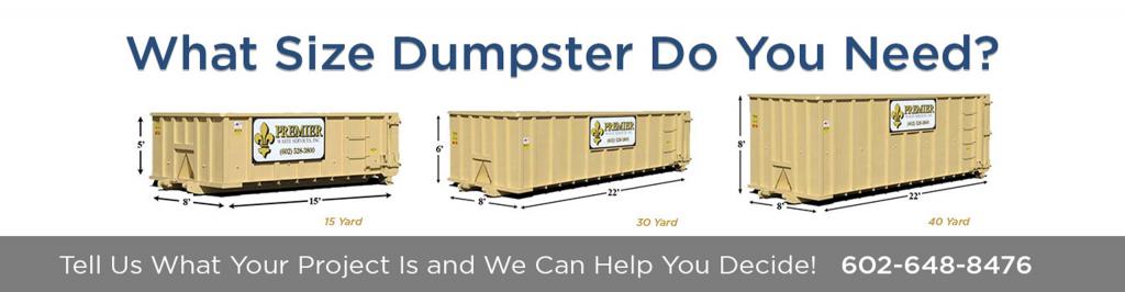 Dumpster Rental Company Scottsdale - Premier Waste Services